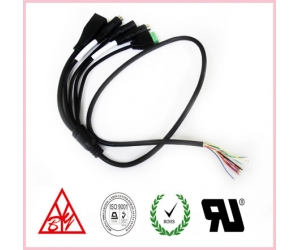 Hot sales 12 pin 1.25 muti-function Internet camera cable
